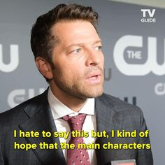 We caught up with Supernatural's Jared Padalecki (Sam), Jensen Ackles (Dean), and Misha Collins (Castiel) at the 2019 Upfronts where they revealed their hope. Supernatural Dean, Supernatural Quizzes, Supernatural Funny Moments, Supernatural Fanfiction, Supernatural Merchandise, Supernatural Pictures, Supernatural Imagines, Supernatural Wallpaper, Supernatural Beings