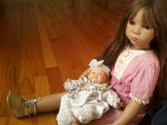 My Ginny Annette Himstedt with vintage newborn Thumbelina - Doll Observers