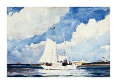 Winslow Homer  Fishing Schooner, Nassau