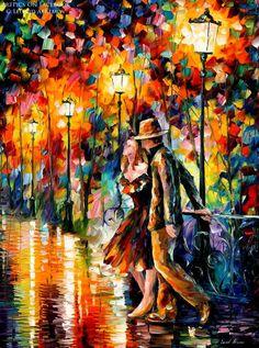 Love Under Umbrella Painting - 5