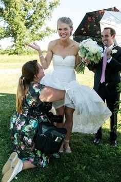 wedding day cute bride photo