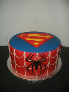 Spiderman/superman cake