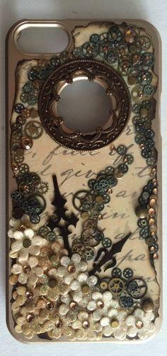 diy steampunk phone case iphone 5s steampunk pinterest handyh lle gestalten handyschalen. Black Bedroom Furniture Sets. Home Design Ideas