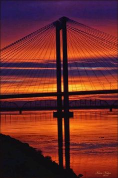 """The Pasco-Kennewick """"Cable"""" Bridge spanning the Columbia River between Pasco and Kennewick, Washington"""