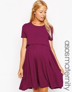 ASOS Maternity NURSING Dress With T-Shirt Layer