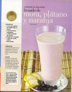 Licuado de Mora, Plátano y Naranja