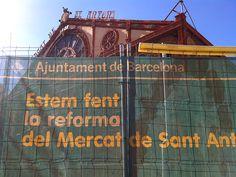 Mercat de Sant Antoni en obras