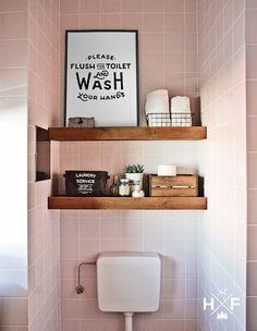 modern trifft rustikal holz balken regal g ste wc home sweet home pinterest rustikales. Black Bedroom Furniture Sets. Home Design Ideas