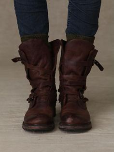 Free People Rayna Wrap Boots... they remind me of the Vivienne Westwood Les Pirate.  (Covet.)