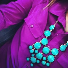 puurple and turquoise
