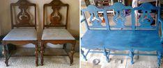Nápady ako vyrobiť zo starých stoličiek lavičku | DIY návody 011