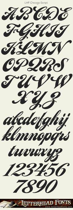 Letterhead Fonts / LHF Chicago Script font / Fancy Script Fonts