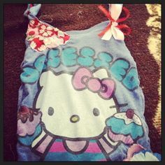 Hand sewn purse made out of my old hello kitty shirt
