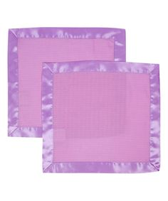 Another great find on #zulily! Radiant Orchid Muslin Security Blanket - Set of Two by MiracleWare #zulilyfinds
