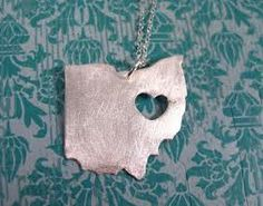 Get outline of ohio with a heart right over my hometown