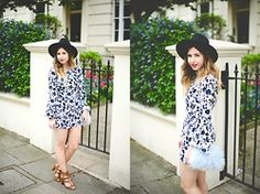Monica Barleycorn - Chicwish Hat, Asos Playsuit, Next Sandals, River Island Bag - Soul Of The Seventies