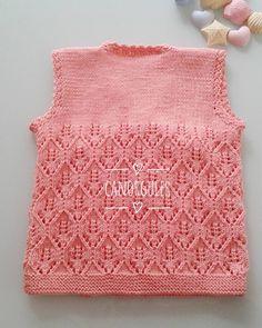 Canlar önler 54 ilmek arka 74 ilmek örenlere kolay gelsin..... Piercings, Moda Emo, Baby Knitting, Lace Shorts, Crochet Top, Diy And Crafts, Crochet Patterns, Sweaters, Handmade