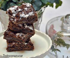 Todo con azúcar: BROWNIE DE NUTELLA Y DULCE DE LECHE