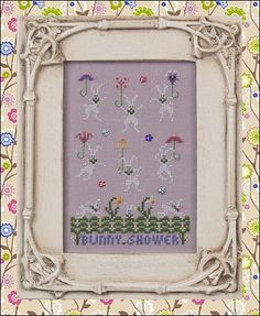 Just Nan - JN271 Bunny Shower • Counted Thread Cross Stitch Designs from Just Nan