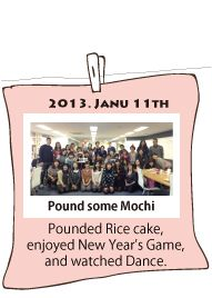 Pounded Mochi, rice cake in jan 2014