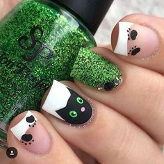 Top 32 Chic Black Cat Manicure Nails To Try Pretty And Modern Black Cat Nail Art Designs Ideas Cat appearance lovely and cute. sometimes folks like to have cats as their pets, i personally own a stunning cat and she or he is de facto keen on