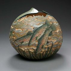 gourd art | The Delicate Gourd Carving Art of Marilyn Sunderland | pennipete