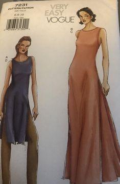 Layette Pattern, Beach Skirt, Vogue Sewing Patterns, Miss Dress, Jumpsuit Dress, Skirt Pants, Flare Skirt, Easy, Tunic