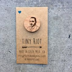 Martin Luther King Jr. Wooden Lapel Pin by TinyRiotDesigns on Etsy