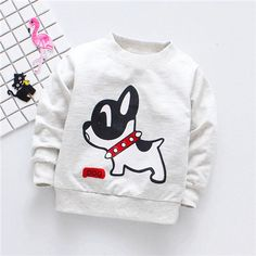 Baby Boys T shirts Dog Pattern Cotton Long Sleeve