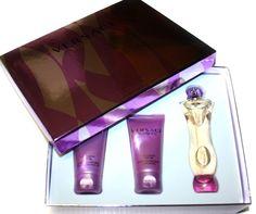 Versace Women 3 Piece Set (Bath and Shower Gel 1.7 Fl Oz, Lumous Perfumed Body Lotion 1.7 Fl Oz, Eau De Parfum 1.7 Fl Oz). Gift Set.
