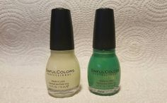 SINFUL COLORS PROFESSIONAL NAIL POLISH by KYLIE JENNER ~Set of 2 ~ GREEN ~ GLOW #SinfulColors