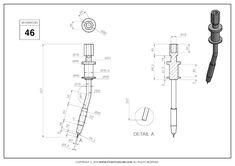 3D CAD EXERCISES 46 - STUDYCADCAM Mechanical Engineering Design, Mechanical Design, 3d Drawings, Technical Drawings, Diy Garage, Autocad, Decoration, Exercises, Social Media