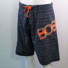 0e1ea9c711 HUGO BOSS Surf Board Shorts Skate Swim Trunks Eclectic Print Design Mens  Size L #HUGOBOSS