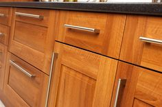 Beau Stained Lyptus Cabinets, Courtesy Woodworking Network.