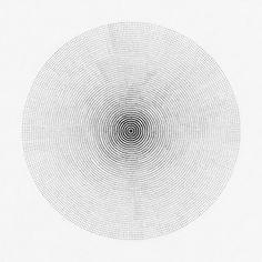 ●●●●●●●●●● ●●●●●●● Drawing by Cyril Galmiche #circle #line #drawing #circular #round #geometry #screenprinting #minimalism #worksonpaper #Handmade #Bw #Blackandwhite #circular