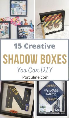 Craft Projects, Projects To Try, Diy Shadow Box, Memory Crafts, Easy Diy, Dyi, Book Crafts, Diy Gifts, Sewing Crafts
