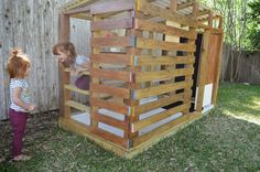 modern DIY outdoor playhouse: tour and how to |