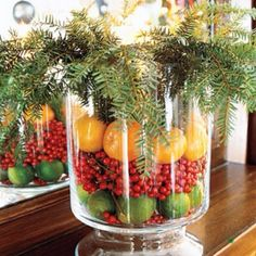 Berries and Fruit make lovely centerpiece