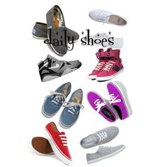 """""""daily shoes"""" by yolandamahbub on Polyvore"""