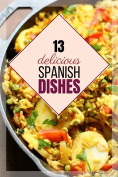 Looking for some delicious and easy Spanish recipes? You'll want to check out these 13 Spanish food recipes your family will love! Authentic Spanish Recipes, Easy Spanish Recipes, Portuguese Recipes, Portuguese Food, Spanish Dinner, Spanish Food, Spanish Meals, Spanish Tapas, One Pot Meals