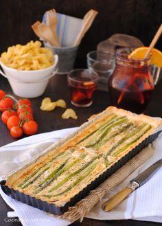 Tarta de espárragos verdes a los 3 quesos