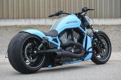 Harley Davidson V Rod / Night Rod by Ricks Motorcycle. Custom Street Bikes, Custom Motorcycles, Custom Bikes, Harley V Rod, Harley Bikes, Vrod Custom, Vrod Harley, Motos Harley Davidson, Futuristic Motorcycle