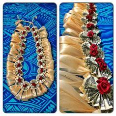 Tongan Money Lei made by me PJ Petersen, design inspired by Tiare Blooms just added Sum Losa Mumu & Fau!!! Malie!!