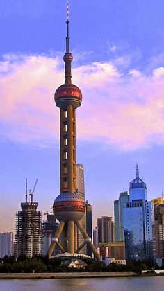 The Oriental Peal Tower and the symbol of Shanghi.  It's a beautiful city - much cleaner than Beijing