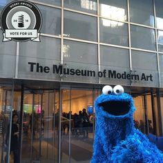 Our Instagram feed is nominated for @thewebbyawards! Show some love and vote for us at mo.ma/webbys. (This shot is from Cookie Monster's visit to the museum last year one of our most popular posts ever!) by themuseumofmodernart