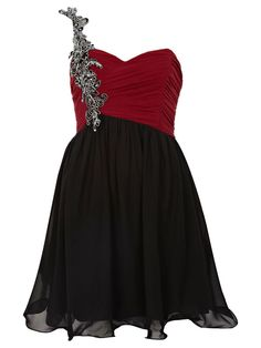 A-line One Shoulder Short/Mini Chiffon Multi Colours Prom Dress With Applique at Millybridal.com