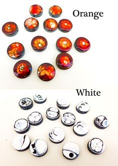 Organic hand painted stones Large size Painted resins by SPIRALICA