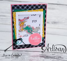 Hello friends, and happy Monday! I'm enjoying a holiday and a long weekend here in Calgary, Alberta, Canada - we celebrated Canada Day on . Sketch Inspiration, Canada Day, Shaker Cards, Long Weekend, Happy Monday, Scrapbook Pages, Stampin Up, Card Making, Paper Crafts