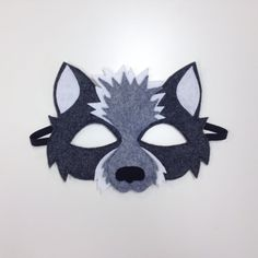 NEW Wolf Mask CHILD van oppositeoffar op Etsy