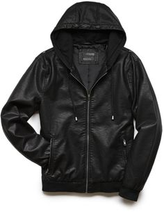 1c792355a80 hooded leather jacket - Google Search